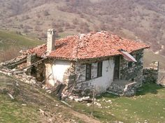 """Traditional Greek house in Paranesti, one of the """"lost"""" villages. Lost Village, Greek House, Athens Greece, Macedonia, Tiny House, Gazebo, Image Search, Outdoor Structures, Construction"""