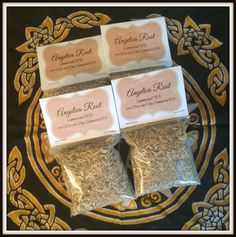 """Angelica Root Magickal Herb ~ Sun Herb ~ Fire Herb ~ Protection ~ Blessing ~ Incense ~ Spells ~ Wicca ~ Witch ~ Pagan ~ 3"""" x 3"""" Bag by SummerlandBB on Etsy"""