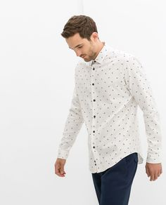 Image 1 of PRINTED OXFORD SHIRT from Zara