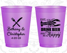 Frost Flex Cups, Shatterproof Cups, Frosted Cups, Custom Frosted Cups, Frosted Plastic Cups, Personalized Frosted Cups (332)