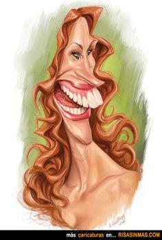 Caricatura de Julia Roberts.