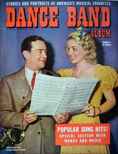 Dance Band Album 1942 Jimmy Dorsey, reading a musical score with vocalist Helen O'Connell.