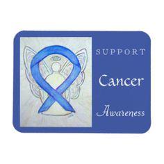 Cancer Awareness Ribbon Violet Angel Custom Magnet