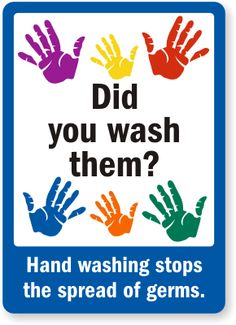 Did You Wash Them? Hand Washing Stops Germs Sign