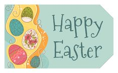 Chick hatching easter gift tag free label printables pinterest ol1763 175 x 3 happy easter eggs gift tag negle Images