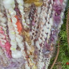Handspun art yarn by picassosmoonyarn