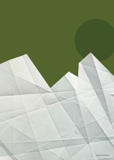 Art, artprint, landscape illustration poster by Irene Linders on Behance