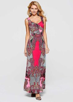 Purple Printed Paisley Maxi Dress Púrpura 6120bd53f5f9