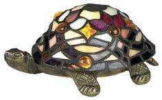 Jeweled Tiffany-Style Tortoise Night Light Accent Light
