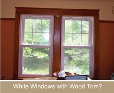 Pine trim white vinyl window google search house for Wood window manufacturers