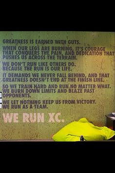 I'm a cross country runner and this is the best quote iv seen so far