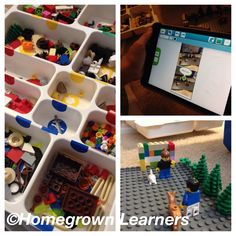 Using LEGO® Educations' StoryStarter in our homeschool #legolearning