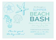 Ocean Blue Icons Invitation.