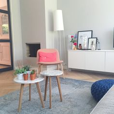 Stylish living by Mint interiors with custom cabinet and lots of color #fraumaier #muuto #festamsterdam #christienmeindertsma #zuiver