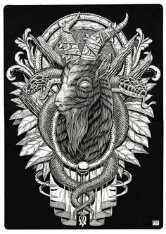 "dannybautistailustracion: ""Baphomet, ink on paper, 2015 "" Baphomet, Tattoo Sleeve Designs, Sleeve Tattoos, Character Illustration, Illustration Art, Black Phillip, Gothic Images, Dark Evil, Satanic Art"