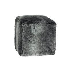 Pouf cube Timberwolf Winter home  Dimensions : L. 40 x 40  H. 47 cm  Composition : fourrure synthétique Loup des bois  Garniture : flocons de polyuréthane ; polystyrène ; fibres polyester ; mousse  Couleur : gris  Entretien : déhoussable et lavable  http://trend-on-line.com/brand/winter-home/pouf-cube-timberwolf