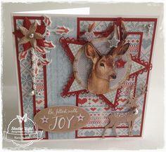 Winter Joy........gemaakt door Karin Heiloo Homemade Christmas Cards, Old Christmas, Christmas Cards To Make, Handmade Christmas, Holiday Cards, Crafters Companion Christmas Cards, Bday Cards, Marianne Design, Winter Cards