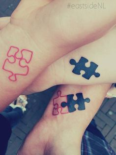 puzzle mother daughter tattoo