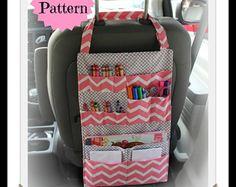 TUTORIAL - Kids Car Organizer Pattern - Activity Portfolio - Crayon Holder - INSTANT DOWNLOAD