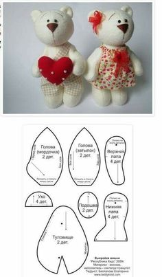 Amazing Home Sewing Crafts Ideas. Incredible Home Sewing Crafts Ideas. Sewing Toys, Sewing Crafts, Sewing Projects, Sewing Stuffed Animals, Stuffed Animal Patterns, Animal Sewing Patterns, Doll Patterns, Bear Patterns, Teddy Bear Sewing Pattern