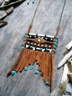 Collier inspiration NATIVE AMERICAN Breastplate par Minouchkita
