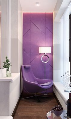 Wondering some eye catchy home interior decoration for your place this year? Ezyshine has mustered up some great color palette ideas for home interior decorations that will jump-start your home project. Interior Balcony, Home Interior Design, Interior Architecture, Interior Decorating, Salons Violet, Balcony Chairs, Decoration Chic, Small Balcony Design, Apartment Balconies