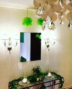 Our #StPatricksDay #decor is up and we are ready to #celebrate! We love a good #theme in our #creative #home so no #holiday or event goes by unnoticed. 😍 I'll post all of the pics soon but for now, here is a peek into our #foyer where the #glittery #gold #sparkles and the shades of #green #shine. Yes, that is the #DIY #potofgold that I posted the guide for not too long ago. Check it out to make one for your #entryway. You don't even need to chase a rainbow. 😉 Enjoy! #stpattysday