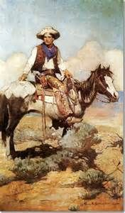 Frank Earle Schoonover -- Tex and Patches Painting