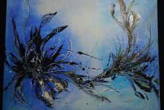 Flower abstraktes Acrylbild auf Leinwand von KunstPunktKunst