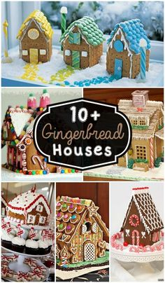 10+ Gingerbread Houses - Inspiration for a fun holiday tradition!! { lillluna.com }