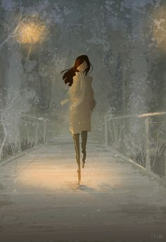 Something about walking through a misty park... by PascalCampion.deviantart.com on @deviantART