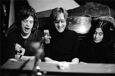 Mick Jagger, John Lennon y Yoko Ono