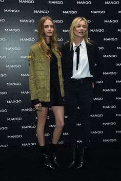 Cara Delevingne and Kate Moss in Mango