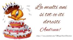 La mulți ani Andreea! - Felicitari de la multi ani pentru Andreea - mesajeurarifelicitari.com