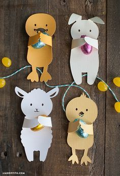 Free Easter printables for kids: Easter Candy Huggers by Lia Griffith