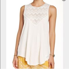 Free People Bleachers tank NWT! Super cute and casual! Free People Tops Tank Tops