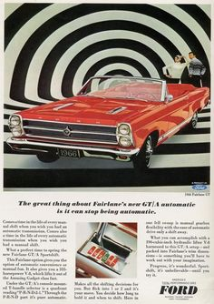 Interior of a 1967 Ford Fairlane. THIS is exciting to me