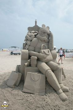 Sand Sculptures – Les impressionnantes sculptures de sable de Carl Jara