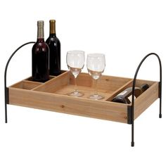 Bailey Tray Serve your favorite vintage on the patio or kitchen island with this handled wood tray, featuring 5 open compartments.