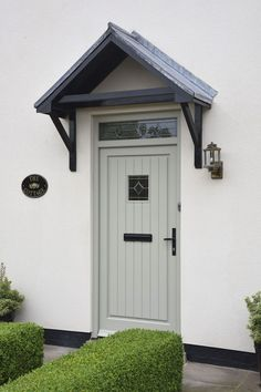 Home Renovation Front Door Timber front door York, North Yorkshire Front Door Canopy, Porch Canopy, Front Door Porch, Front Door Entrance, House Entrance, Country Front Door, Front Porches, Door Canopy Plans, Porch Awning