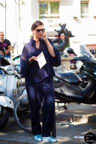 Paris Men's Fashion Week Spring 2016 Street Style: Anastasia Barbieri