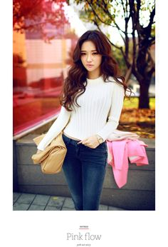 Cropped Knit Long Sleeve Blouse - I know you wanna kiss me. Thank you for visiting CHUU.