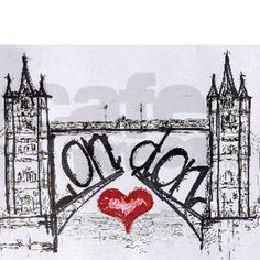 London with love Mousepad on CafePress.com