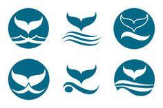 Whale Tail Logo Royalty Free Stock Photo