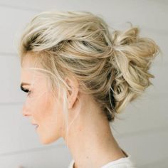 Lässige Hochsteckfrisuren für mittellanges Haar - 12 tolle Styling-Ideen