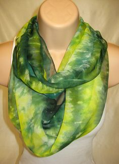 Pure Silk Scarf - Hand painted
