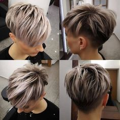 Today we have the most stylish 86 Cute Short Pixie Haircuts. We claim that you have never seen such elegant and eye-catching short hairstyles before. Pixie haircut, of course, offers a lot of options for the hair of the ladies'… Continue Reading → Funky Short Hair, Short Hair Cuts For Women, Short Hair Styles, Ombré Hair, Hair Dos, New Hair, Short Hair Undercut, Short Pixie Haircuts, Hairstyles Haircuts