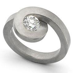 .74-carat ring set in fleece matte-finished platinum.