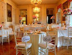 Glen Manor House Wedding Room set-up with sweetheart table