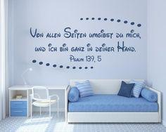 """Christliches Wandtattoo """"Von allen Seiten umgibst Du mich"""" 69027 - ● Psalmen - †…"""
